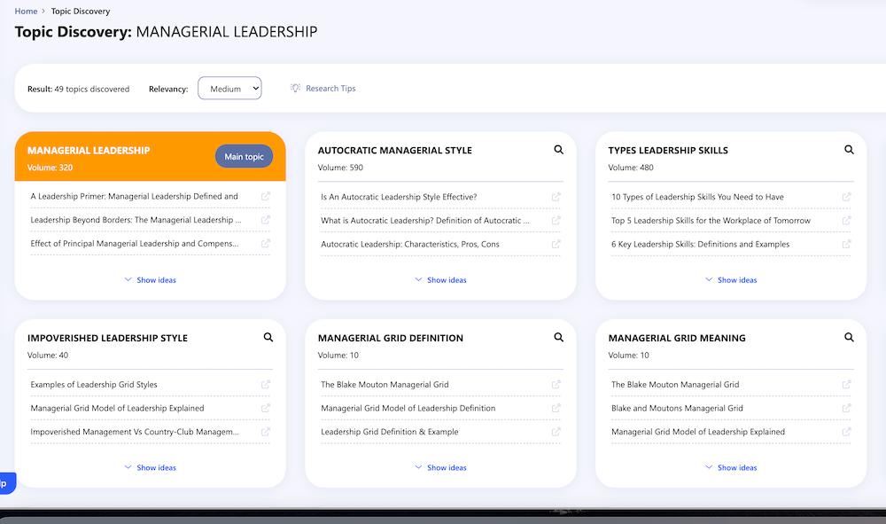 keyword clusters tool